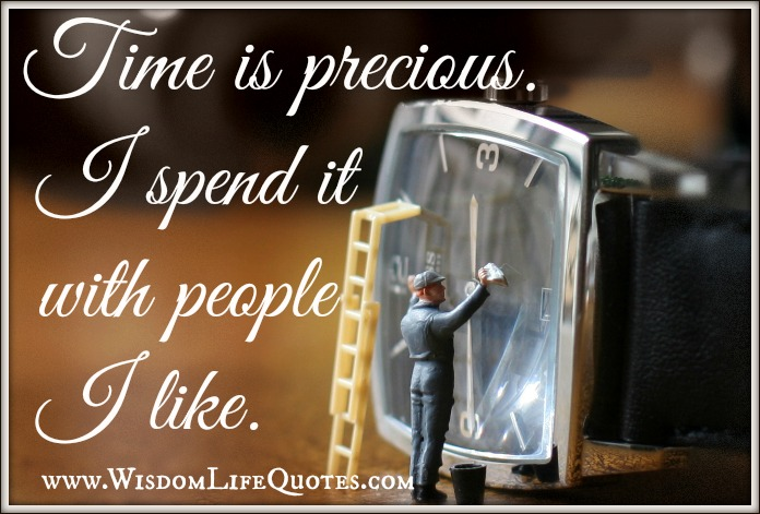 I spend time with people I like.