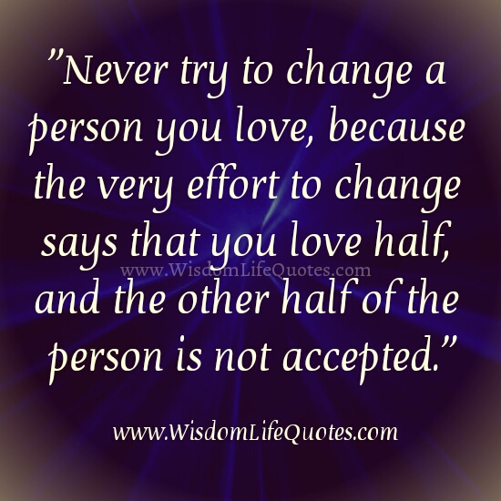 Never a person you love